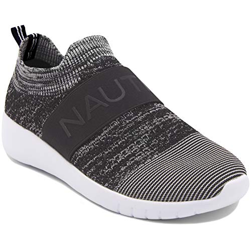 (Nautica Women Fashion Slip-On Sneaker Jogger Comfort Running Shoes-West Deck ELS-Grey-9 )