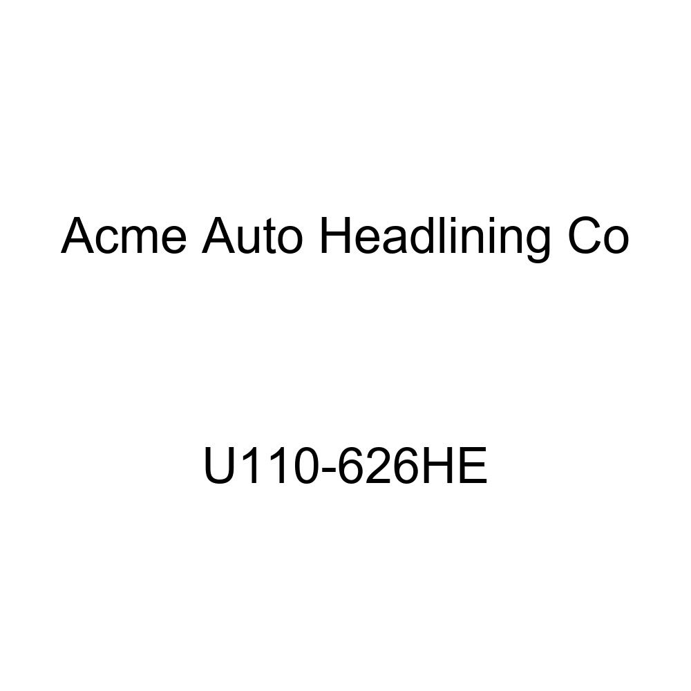 Acme U110-626HE Front Navy Blue Velour Bench Seat Upholstery with Royal Blue Velour Pleated Inserts