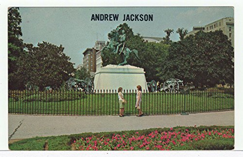 Jackson Square Statue - General Andrew Jackson Statue, Lafayette Square, Washington, DC Vintage Original Postcard #3614 - 1960's