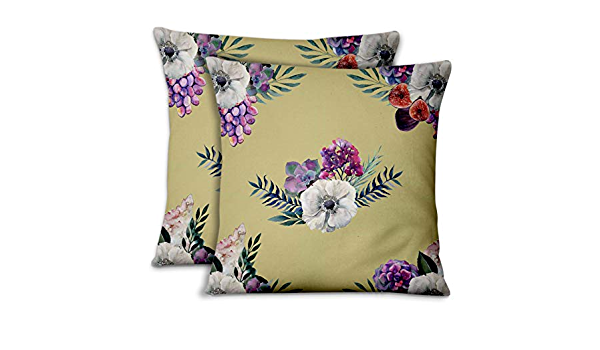 Details about  /S4Sassy Cotton Poplin Decorative Floral Print 1 Pair Pillow Sham Cushion Cover