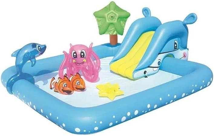 PNFP Piscina inflable con tobogán acuático, el mejor parque ...