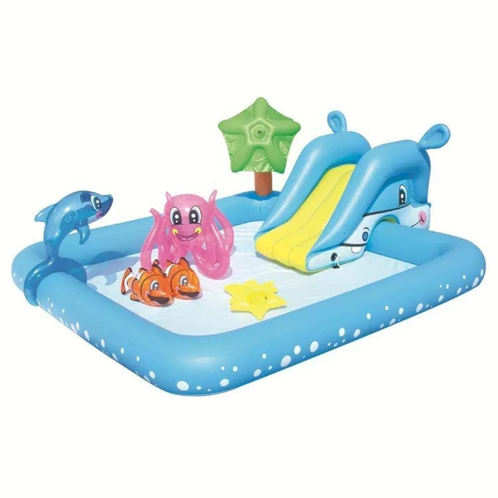 PNFP Inflatable Pool with Water Slide, Best Inflatable Playground with Slides for Infant and Children, Big Outdoor Toys for Summer Activity Swimming, Portable Backyard Pool for Kids and Toddlers by PNFP
