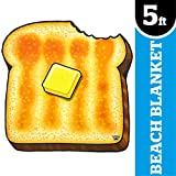 BigMouth Inc Gigantic Buttered Toast Beach Blanket
