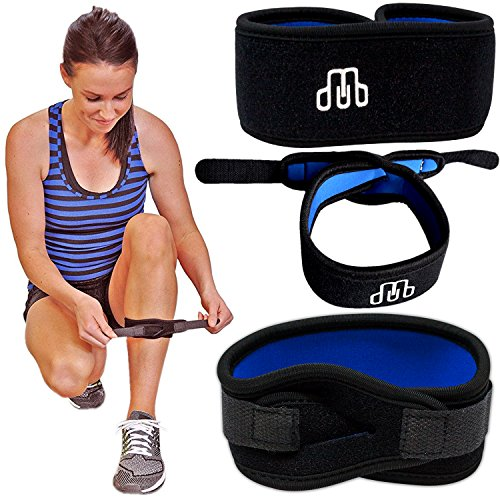 CROSSTRAP Shin Splint by MDUB Medical | 1-Strap (Small) | Adjustable, Neoprene, Shin Splints Leg Compression Strap Support for Pulled Calf Muscle Pain Torn Calf Strain Injury | for Men and Women ()