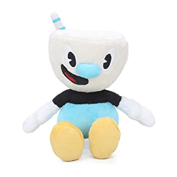 28cm Chalice Cuphead /& Plush Toy Mecup And Brocup Stuffed Doll Toys Gift