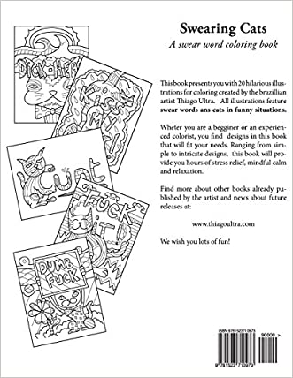 Durable Modeling Swearing Cats A Swear Word Coloring Book Featuring Hilarious Sweary