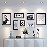 WUXK Modern minimalist photo walls decorated in european style living room wall creative American photo frame wall Combo 3