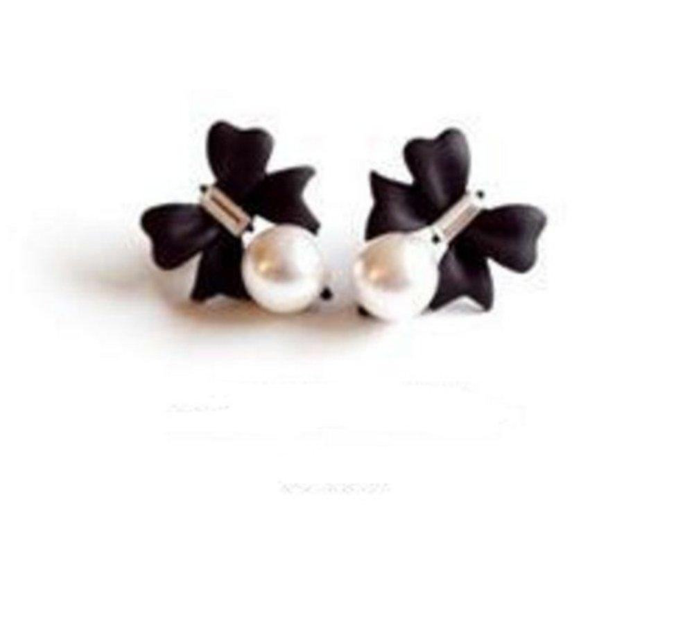 Wicemoon Perle Bow Ohrringe Frauen Ohrring Ohrstecker Ohrringe Mode Beliebte Schmuck Ohrstecker f/ür M/ädchen