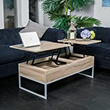 Great Deal Furniture Ditmar Natural Brown Wood Lift Top Storage Coffee Table