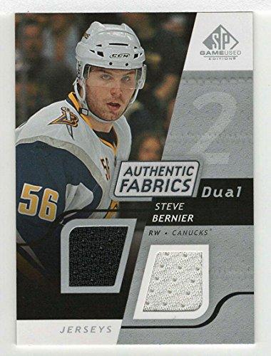Steve Bernier (Hockey Card) 2008-09 Upper Deck SP Game Used Dual Authentic Fabrics # AF - BR ()