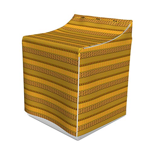 - Ambesonne Kente Pattern Washer Cover, Horizontal Borders of the Primitive Country Zigzags Folkloric Ornaments Tile, Easy to Use Bathroom Accent Fabric, 29