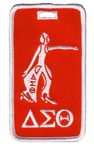 Delta Sigma Theta Lady Dive Embroidered Luggage Tag ()