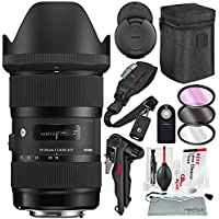 Sigma 18-35mm F1.8 Art DC HSM Lens for Canon with Accessory Bundle and Xpix Professional Cleaning Kit