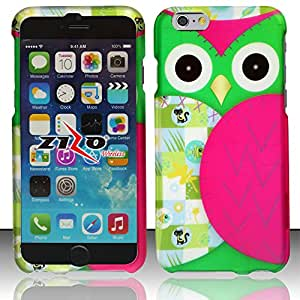 Windowcell Sales for Iphone 6 - Rubberized Design Hard Snap-on Cover - Owl Dp