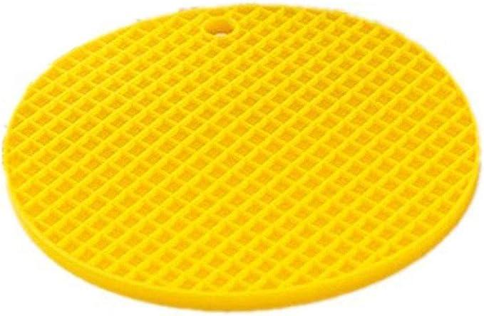 Compra Luwu-Store Cojín Antideslizante para Aislante térmico Cojín para colchoneta Coaster de Silicona para el hogar Mantel Redondo para Barra de Cocina de TheBigThumb, Amarillo en Amazon.es