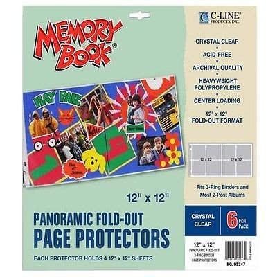 - Memory Book Panoramic Fold-Out Page Protectors 12