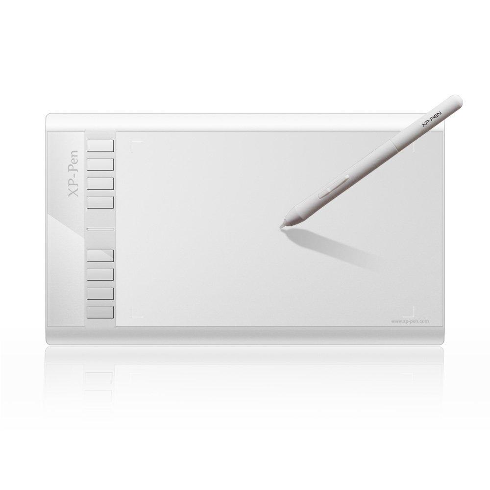 XP-Pen Star03 12'' Graphics Drawing Pen Tablet Drawing Tablet Battery-Free Stylus Passive Pen Signature Board 8 Hot Keys (White)