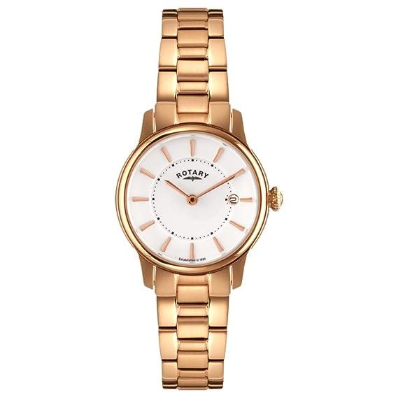 Rotary LB02774/02 - Reloj de Pulsera Mujer, Acero Inoxidable ...