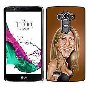 LECELL--Funda protectora / Cubierta / Piel For LG G4 -- Sarah Anniston película caricatura marrón --
