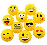 DollarItemDirect 4'' Emoticon KNOBBY Ball-Yellow (100/cs), Case of 9