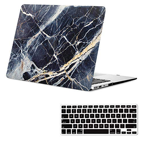- MacBook Air 13.3 Inch Case Marble, Black Marble Design MacBook Air Case, Rubberized Soft-Touch Protective Hard Shell Case for MacBook Air 13.3 Inch(Model:A1466/A1369) & Keyboard Cover Year 2010-2017