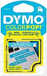 DYMO Colorpop - Cinta para Hacer Etiquetas, 1,27 cm de Ancho x 10 pies de Largo, impresión Blanca sobre Purpur