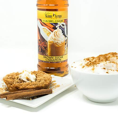 Jordan's Skinny Syrups    Sugar Free Brown Sugar Cinnamon Syrup   Healthy Flavors with 0 Calories, 0 Sugar, 0 Carbs  750ml/25.4oz Bottle