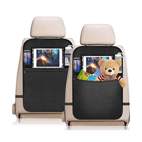 YZCX 2 Pezzi Protezione Sedili Auto Bambini Proteggi Sedile Organizzatore Sedile Posteriore Impermeabile con Supporto… 1