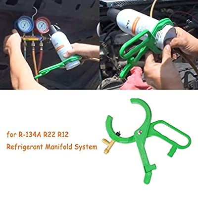 R134A Can Tap Tool for R22 R12 Refrigerant 2-in-1 Side Punch AC Can Tap Bottle Opener Refrigerant Manifold System Tool: Automotive