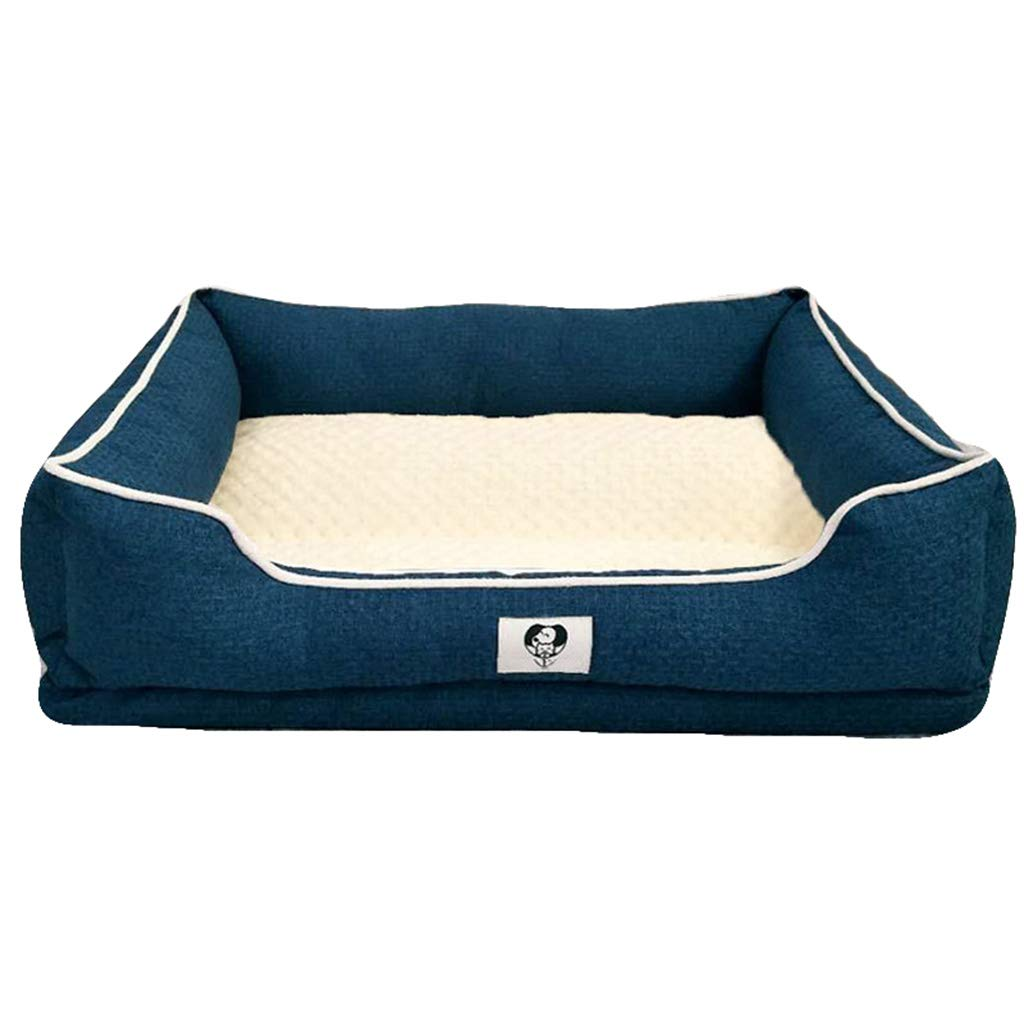 Small Qi Dog Cat Bed Dog Kennel Pet Supplies Sleep Well Lounge Soft Comfortable Bed Pet Mat (Size   S)