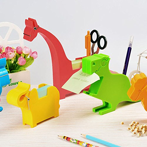 Lzttyee Animal Shape Multi-functional Plastic Memo Holder/Note Dispenser/Desktop Note Pad/Pen Holder with 200 Sheets Memo Pad for Office School Supplies (Elephant Yellow) by Lzttyee (Image #4)