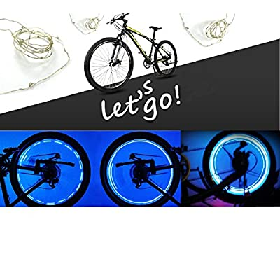Ultra Bright 20-LED Bicycle Bike Rim Lights LED Colorful Wheel Lights - Colorful Bicycle Tire Accessories (colorful)