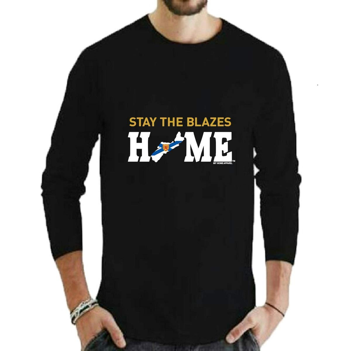 Stay The Blazes Home Nova Scotia T-Shirt2