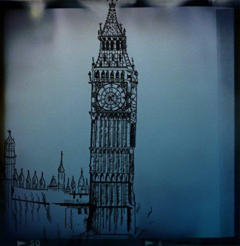 big-ben-film-print-big-ben-in-london-blue-english-decor-england-gift-architecture-orange-old-world-b