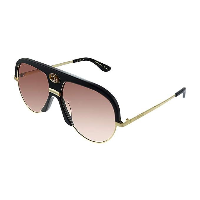 Gucci - Gafas de sol - para hombre Negro Nero Con Aste Oro ...