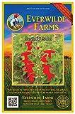 Everwilde Farms - 1000 Scarlet Sage Native Wildflower Seeds - Gold Vault Jumbo Seed Packet