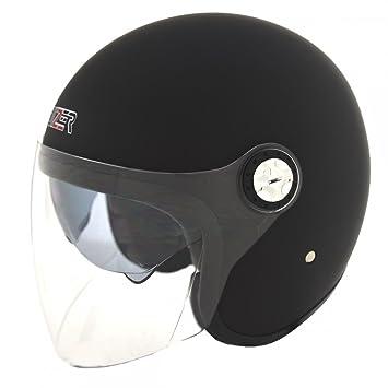 Negro Mate talla L doble visera CRUIZER Casco Moto Jet homologado ECE