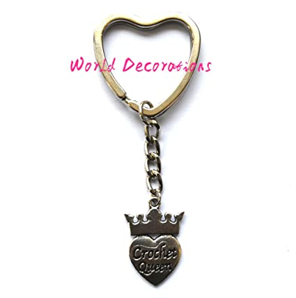 Amazon.com  Crochet Queen Purse Charm Crocheters Gift Keychain Keyring 95bc686c0