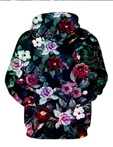 Hoodie Pullover Tasche Stampata Rosa Felpa Colorata 3d Con Cappuccio Divertente Unisex Grafica xzw0S8nqv