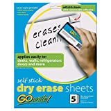 Pacon INVAS8511 GoWrite! Self Stick Dry-Erase Sheets, 8.5'' x 11''
