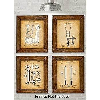 Amazon.com: Caduceus Medical Symbol Watercolor Art Print Wall Art ...