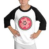 MULTY9 Watermelon Child Youth 3/4 Baseball Tshirt