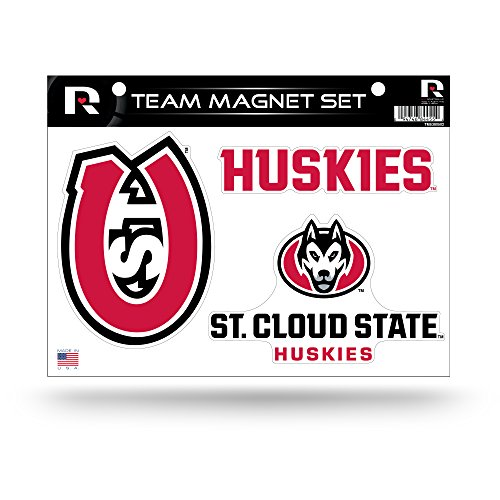 Rico Industries NCAA St. Cloud State Huskies Die Cut Team Magnet Set Sheet