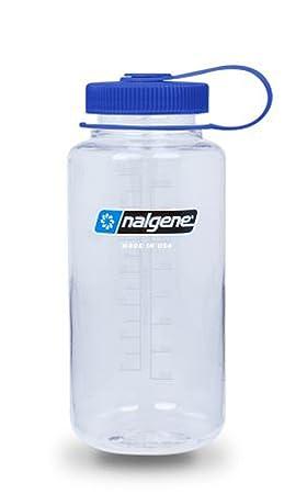 Nalgente Everyday - Botella de plástico con cuello ancho, Klar mit Deckel Blau