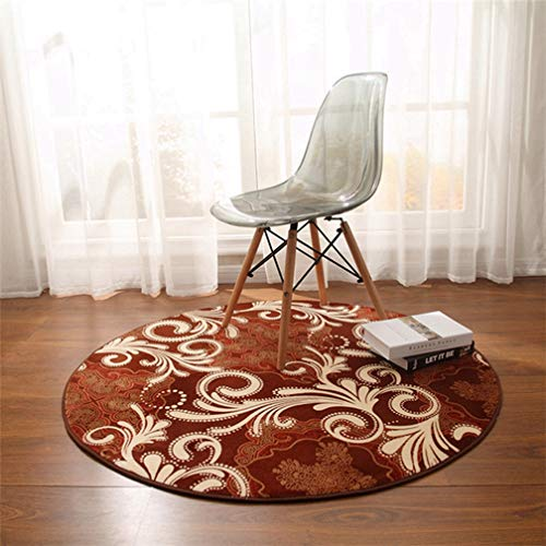 Modern Paisley Rug - MOXIC Soft Paisley Round Area Rugs Living Room Bedroom Children Crawl Rug Bohemia Coral Fleece Anti-Slip Carpet Bathroom Mats Circular Modern Home Decorate Nursery Runners 5' X 5'