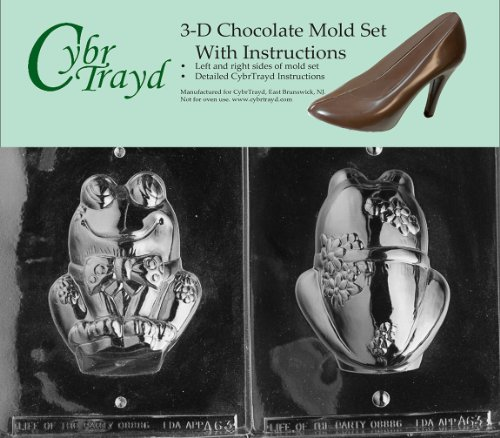 Cybrtrayd A063AB 3D Frog Chocolate Candy Mold Kit with 2 Molds and 3D Chocolate Instructions