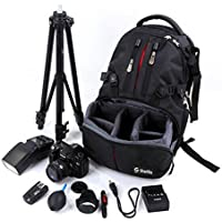 Sheffla DSLR SLR Camera Backpack Bag Case for Canon Nikon Sony
