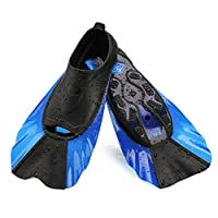 WADEO Kids Swim Fins Flippers for Toddler Child Silicone Combination Fin