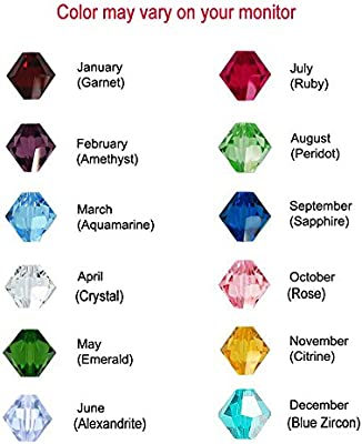 4166890475 Amazon.com: 50 Bicone Swarovski #5328 Crystal Beads Birthstone Colors of  each Month - Made in Austria (4mm, May – Emerald): Arts, Crafts & Sewing