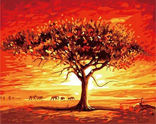 DIY Pintura por Números Imagen Famosa Paisaje Pintura De La Lona Pintada A Mano Pintura De La Caligrafía para La Decoración del Hogar Artes 40 * 50 Cm